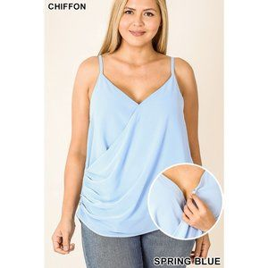 BLUE BIRD TANK TOP PLUS SIZE